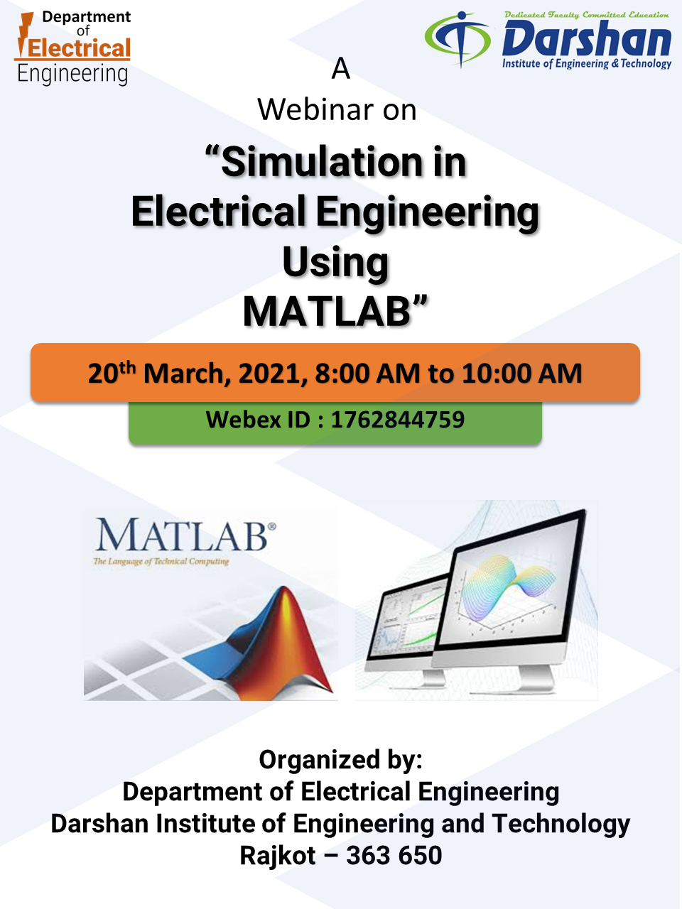 """A webinar on """"Simulation in Electrical Engineering using MATLAB"""""""