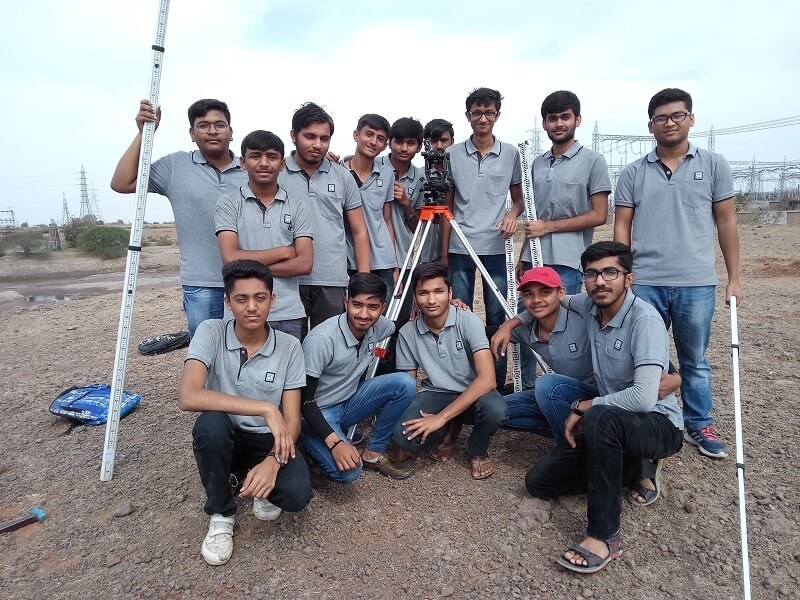 4th semester diploma civil students had performed tacheometry field survey at village Hadala.