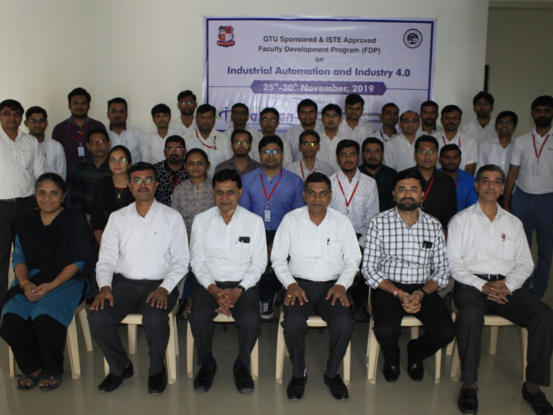 FDP on Industrial Automation and Industry 4.0 at Darshan Institute of Engineering & Technology, Rajkot during 25th - 30th November, 2019