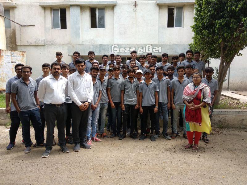 Final year Students of Diploma civil are visited at WTP Rajkot.