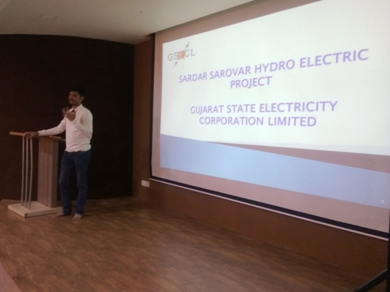 """Department of Electrical Engineering organized an expert talk on """"Sardar Sarovar Hydro Electric Project"""""""