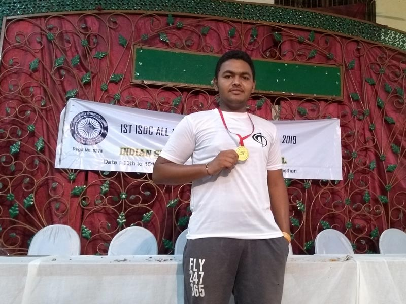 """Student of 5th Semester Mechanical Engineering Secured 1st Rank in """"Javelin Throw"""""""