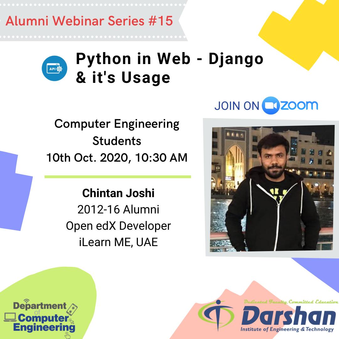 Webinar on Python in Web - Django & it's Usage