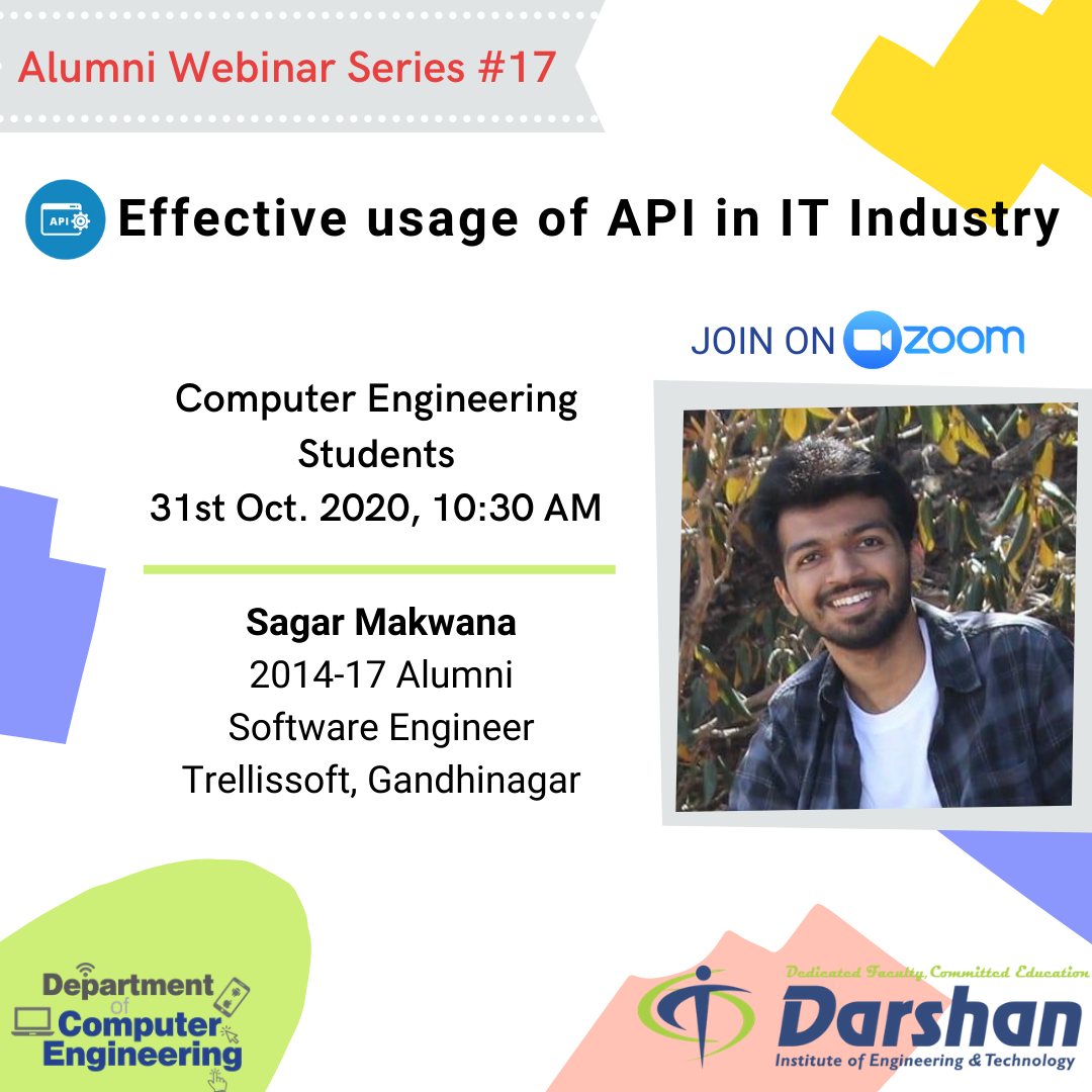 Webinar on Effective usage of API in IT Industry