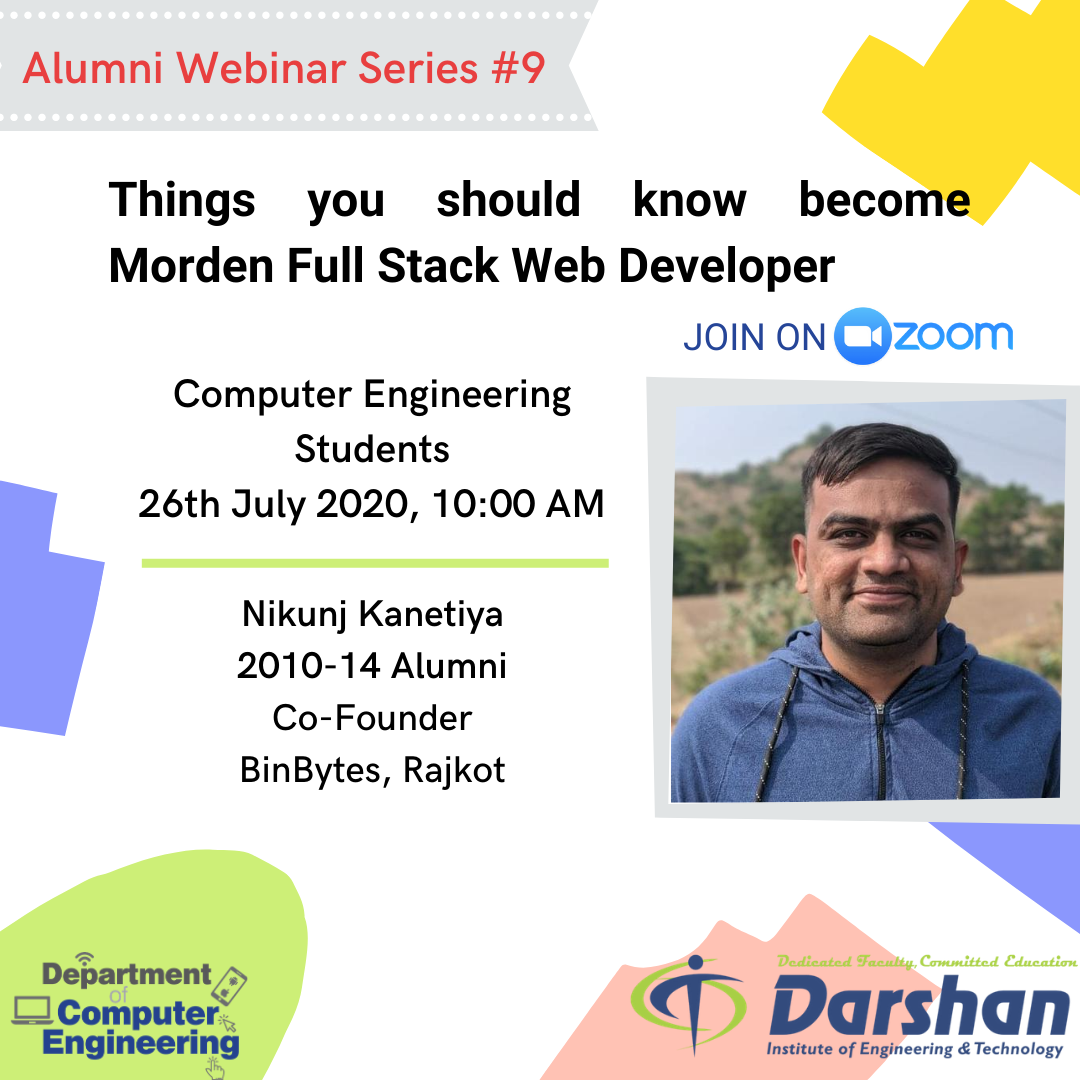 Webinar On Things you should know become Morden Full Stack Web Developer